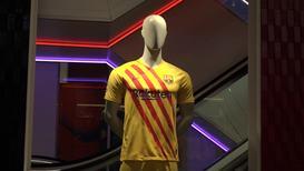 """""""Lo llevamos dentro"""" - El Barça saca a la venta una camiseta inspirada en la bandera catalana"""