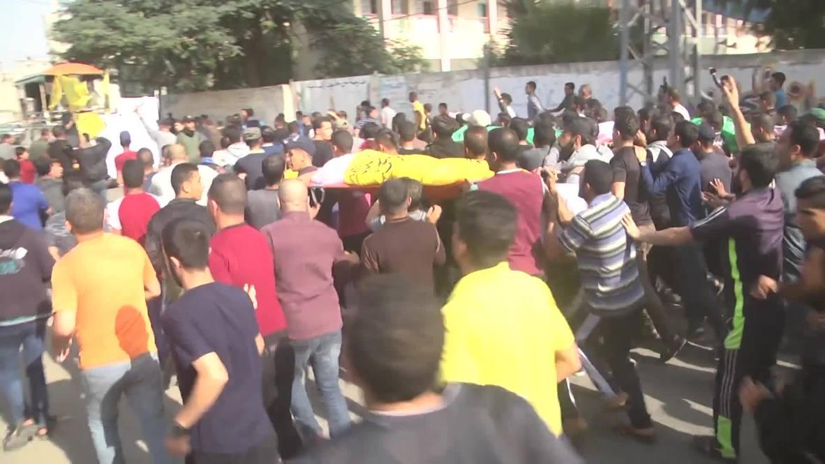 دولة فلسطين: تشييع فلسطيني ونجليه قتلوا في غارة إسرائيلية على غزة