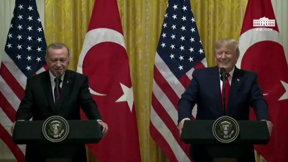الولايات المتحدة: ترامب: أنا من أشد المعجبين بأردوغان