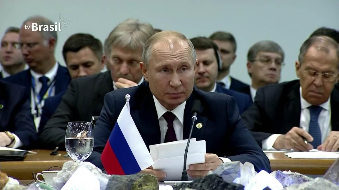 """Бразилия: """"Партнерство, безопасность и инновации"""" – Путин об основах председательства РФ в БРИКС"""