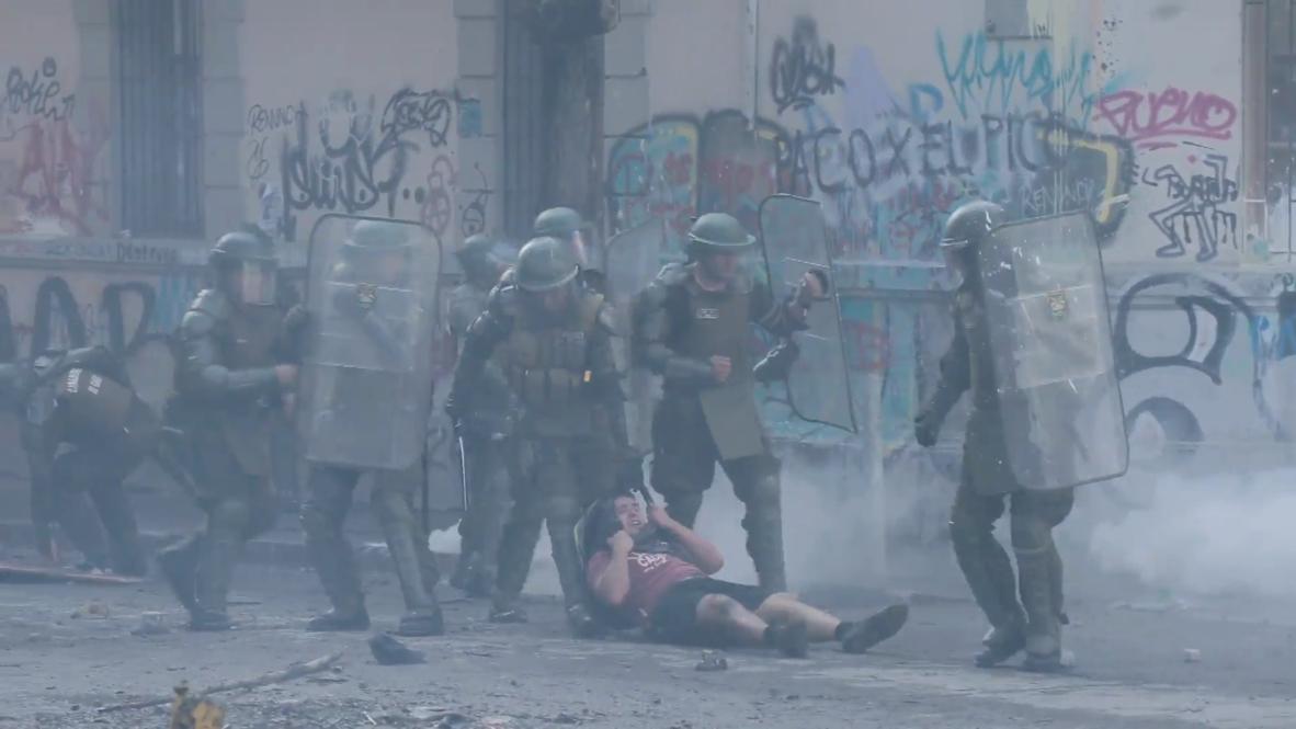 Chile: Nueva jornada de protestas en Santiago contra el Gobierno de Piñera