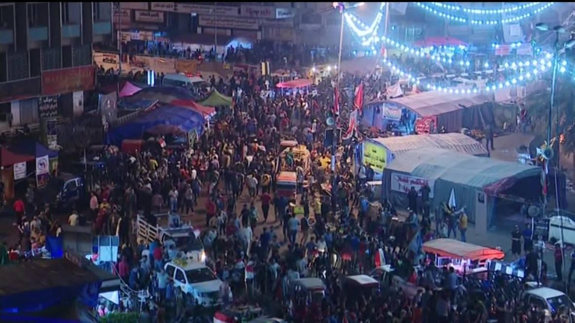 Iraq: Anti-government protests continue overnight in Baghdad