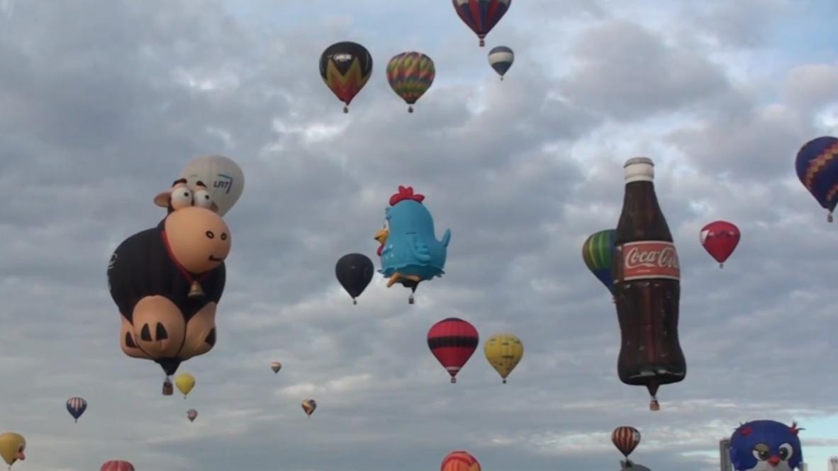 Mexico's Leon sky bursts with colour as hot air balloon festival kicks off