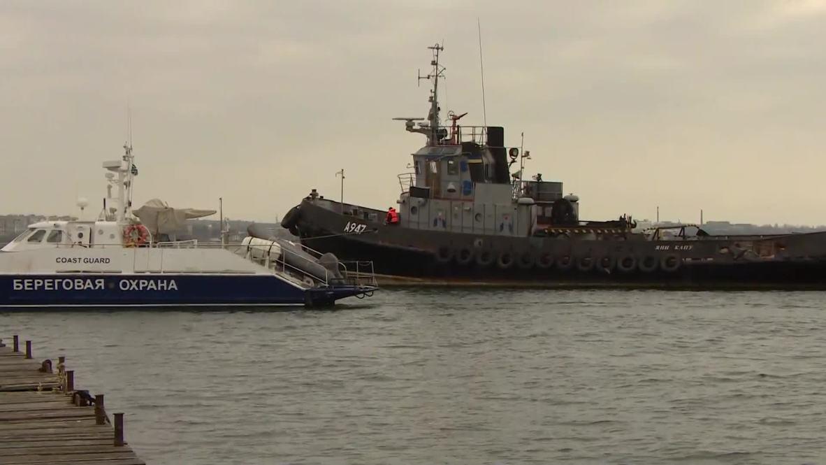 Россия: Задержанные в Керченском проливе корабли направляются к месту передачи украинской стороне
