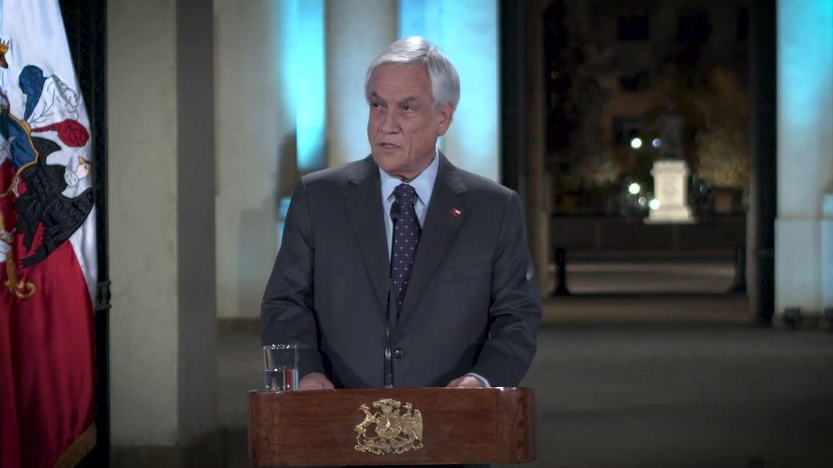 """Chile: Piñera denuncia el """"uso excesivo de la fuerza"""" y los """"abusos"""" tras semanas de protestas"""
