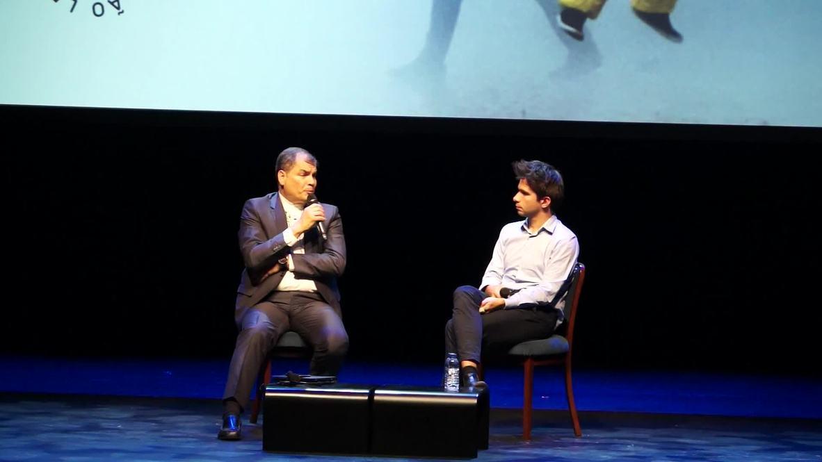 Portugal: Correa discusses Morales and 'principles' behind Assange asylum
