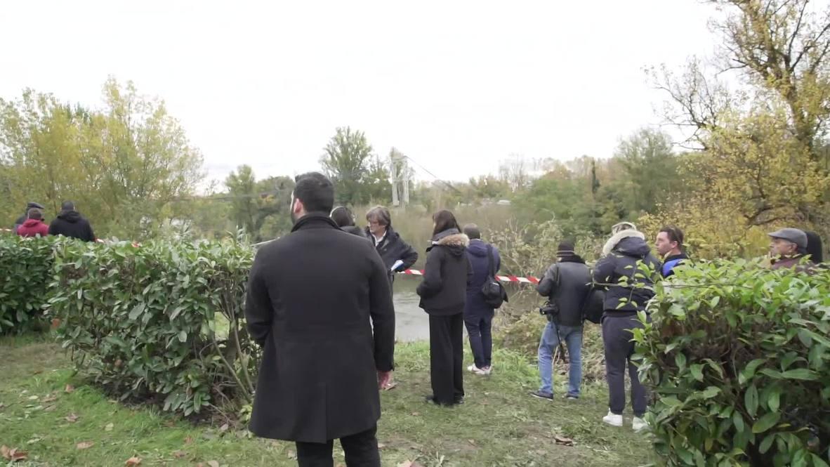 Francia: Dos muertos por el derrumbe de un puente cerca de Toulouse