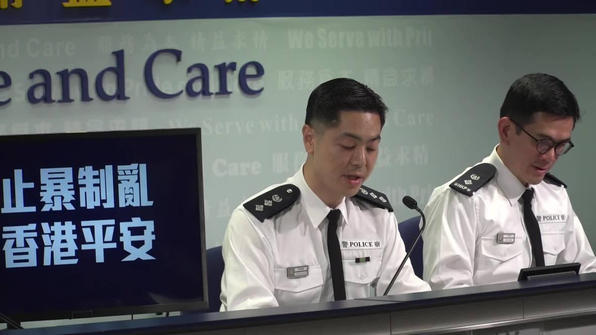 """Hong Kong: Policía acusa a manifestantes de """"actos homicidas"""""""