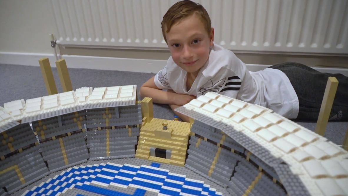 ¡Ladrillo a ladrillo! Joe de 11 años construye los estadios más emblemáticos del mundo con Lego