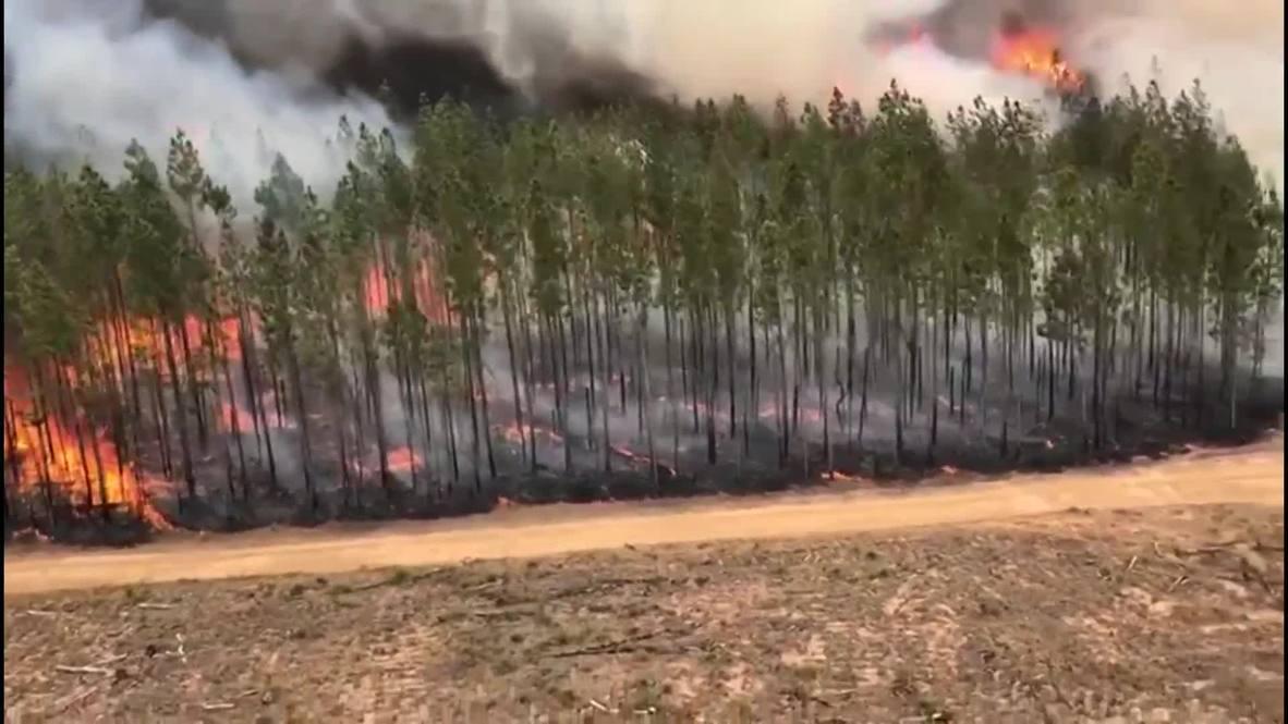 Australia: Wildfire rages on in Richmond Valley