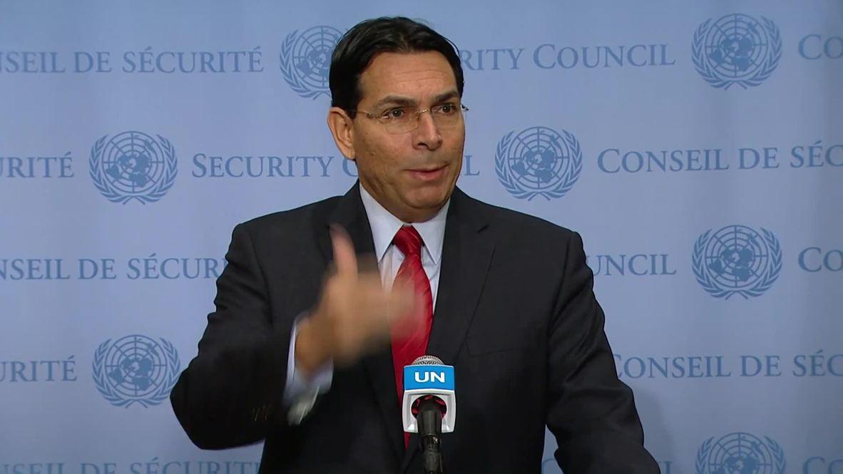 """ONU: """"Atacaremos con fuerza"""" a cualquiera que ataque Israel - representante israelí en la ONU"""
