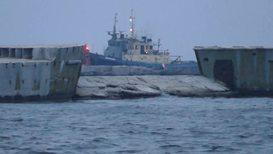 Ukraine: Naval ships seized by Russia arrive at port of Ochakov