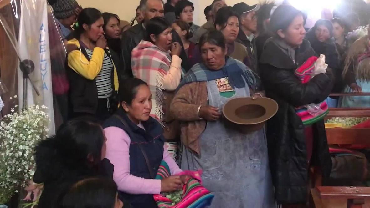 Bolivia: Cientos de personas asisten al velorio de manifestantes muertos durante protestas en El Alto
