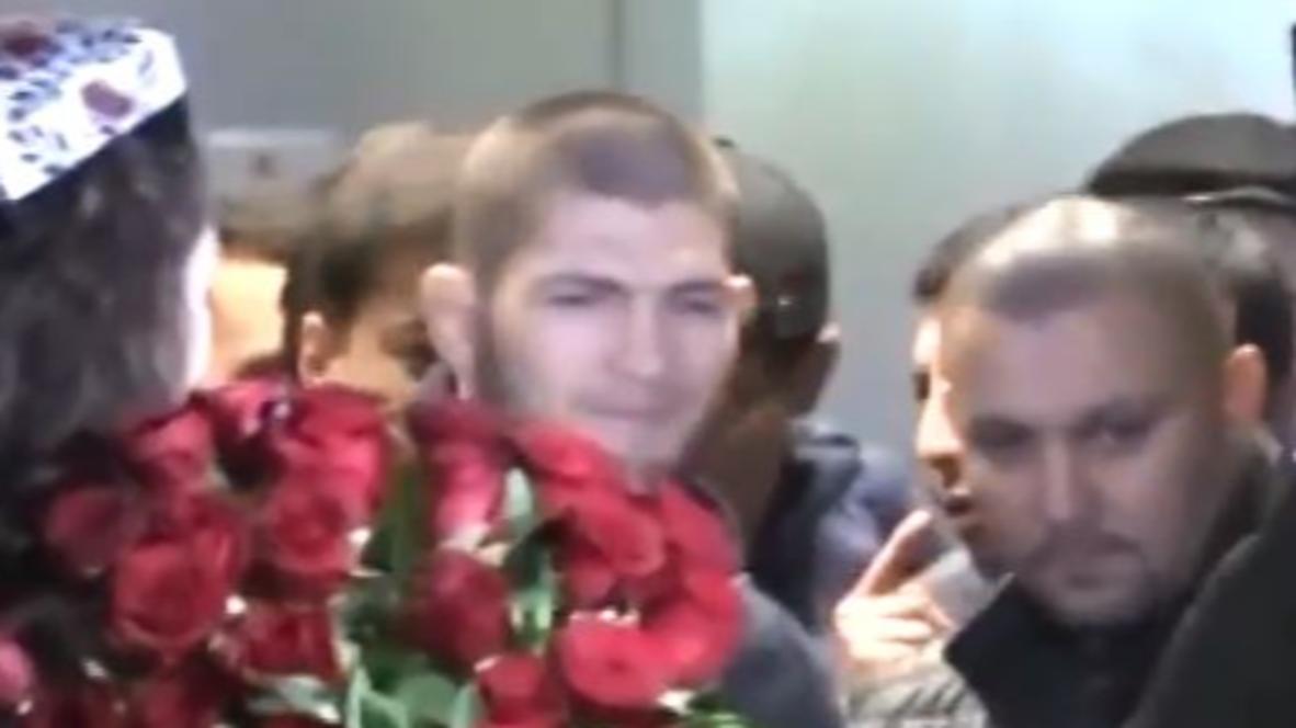 Uzbekistan: Khabib mobbed in Tashkent ahead of cousin's fight