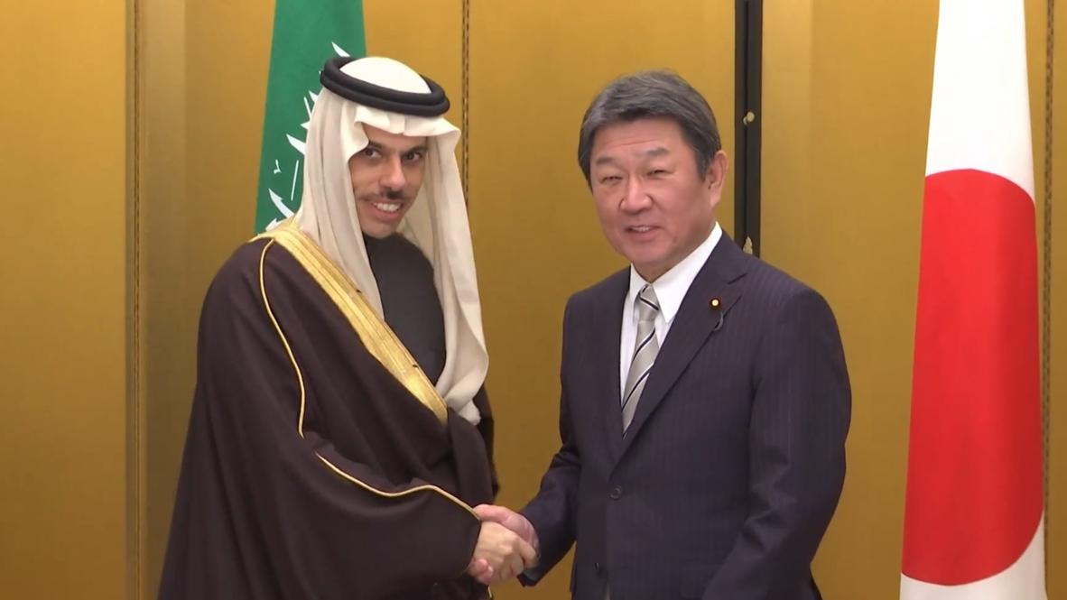 Japan: FM Motegi meets Saudi counterpart on sidelines of G20 ministerial meeting