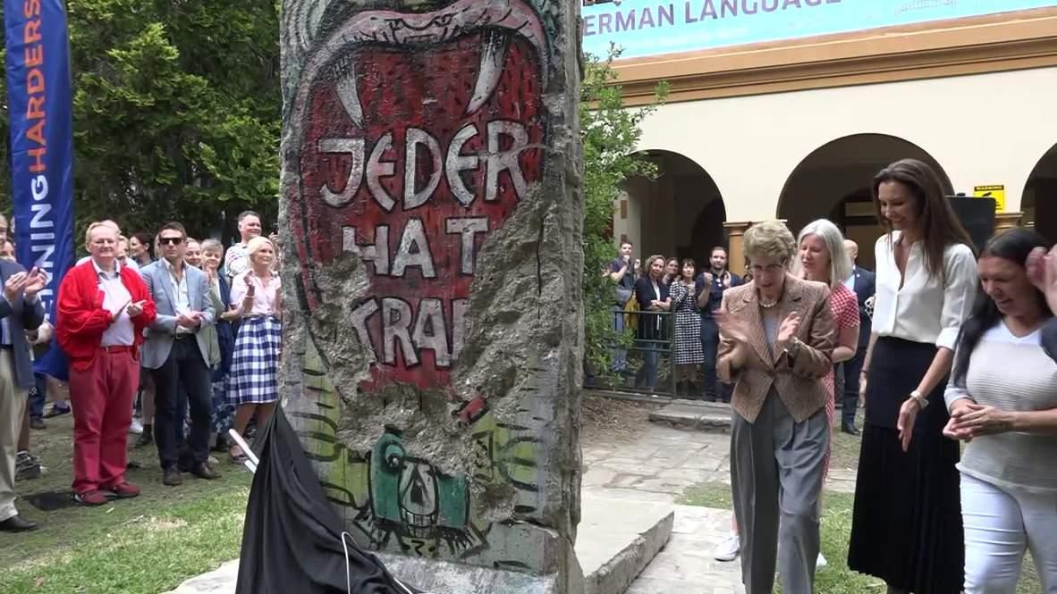 Australia: Pieza olvidada del Muro de Berlín descubierta en Sídney