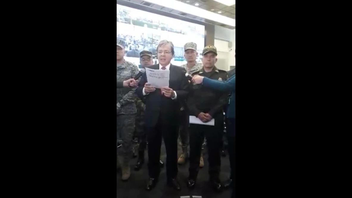 """Colombia: Ministro de Defensa califica de """"atroz ataque terrorista"""" el mortal coche bomba cerca de comisaría"""