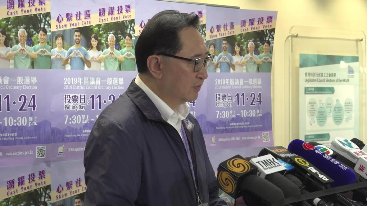 Hong Kong: Récord de participación del 71% en las elecciones locales - oficial