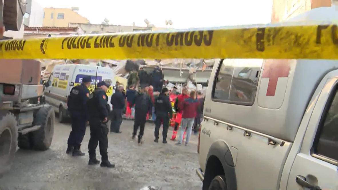 ألبانيا: زلزال بقوة 6.4 درجات يودي بحياة 13 شخصا على الأقل في العاصمة تيرانا