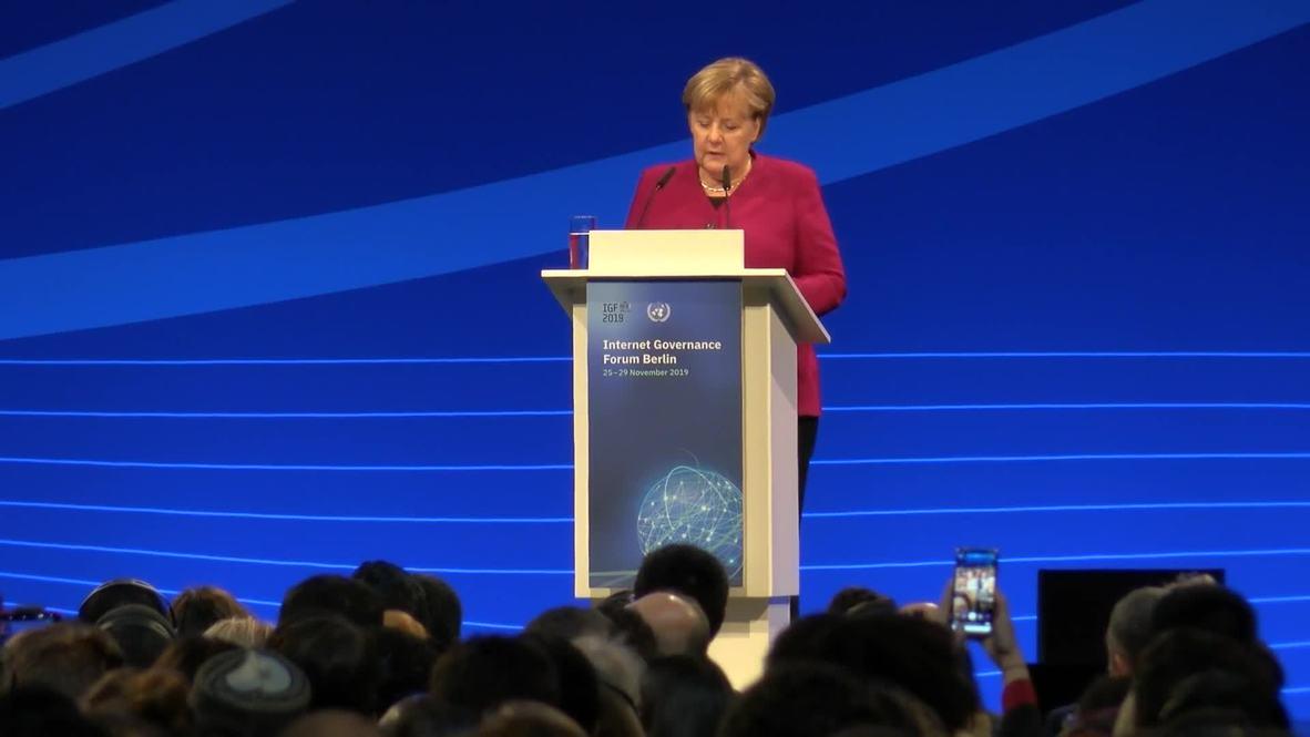 Germany: Merkel and Guterres open 14th Internet Governance Forum