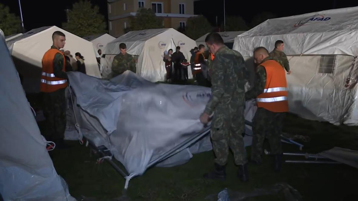 ألبانيا: إقامة مخيمات لإيواء الناجين من الزلزال المميت