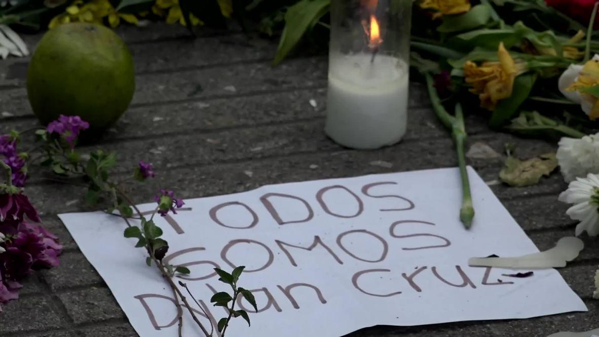 Colombia: Homenajes a Dilan Cruz en Bogotá tras su muerte