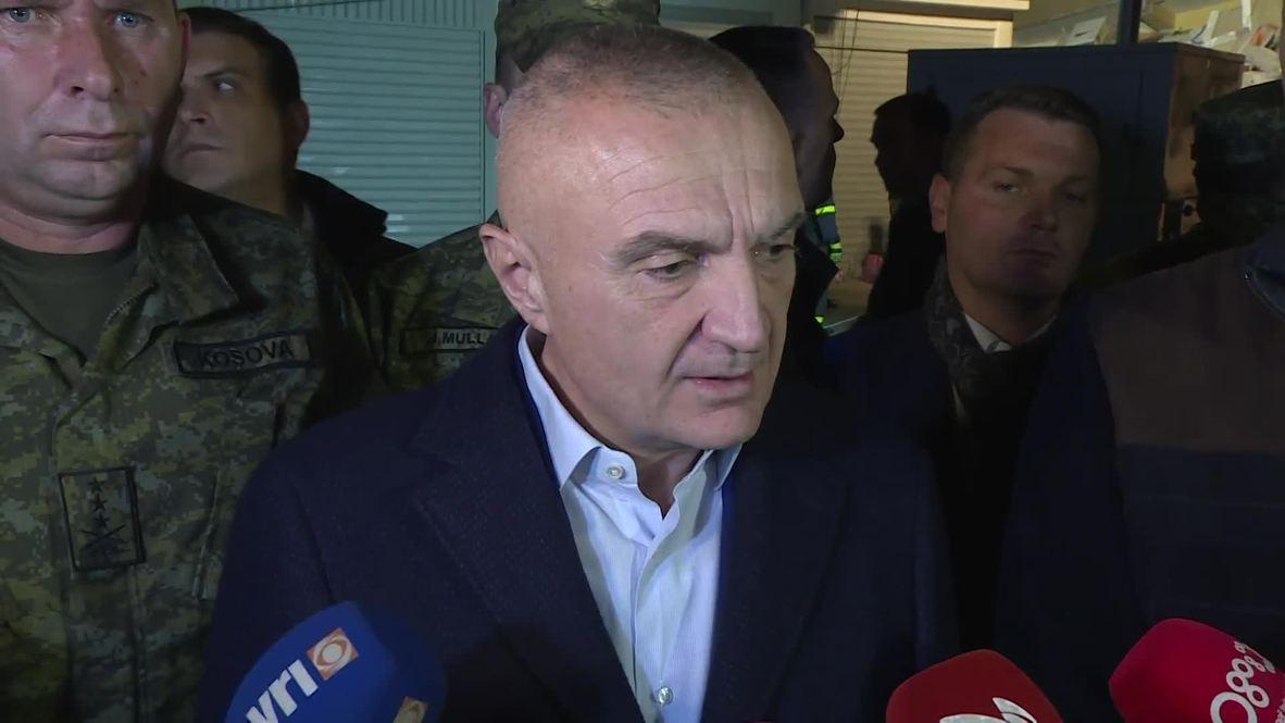 """ألبانيا: الرئيس الألباني يصف الوضع بـ""""الدراماتيكي"""" خلال زيارته لدوريس عقب الزلزال المميت"""