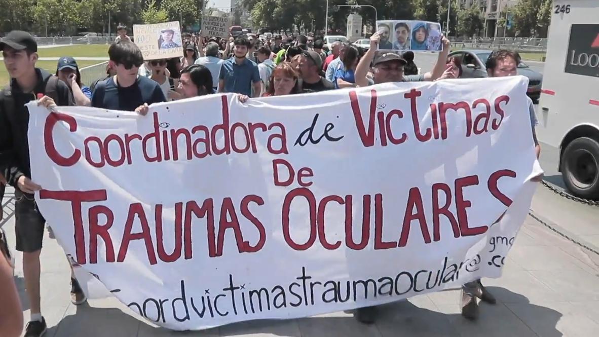 Chile: Heridos en los ojos durante ola de manifestaciones protestan frente al palacio de Gobierno