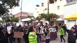 USA: Climate movement target Black Friday shopping in Santa Monica