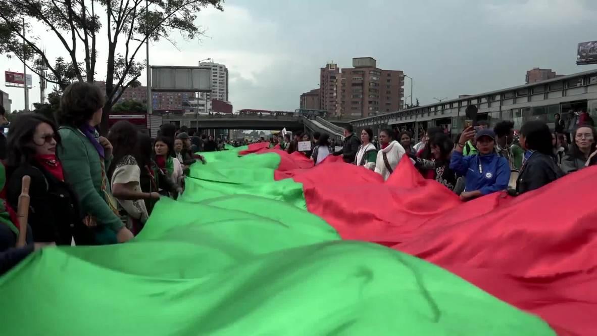 Colombia: Grupos indígenas llegan a Bogotá