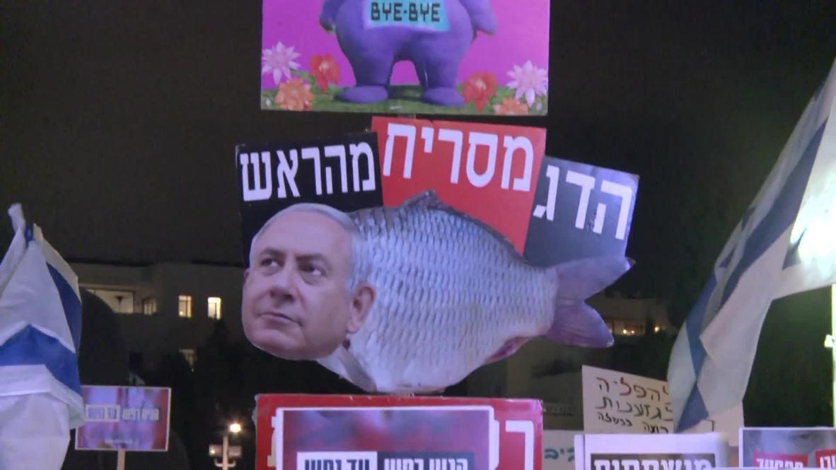 Israel: Thousands call for Netanyahu's resignation at Tel Aviv protest