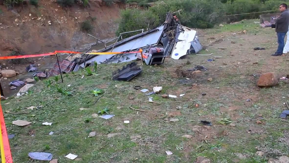 Tunisia: 24 killed after tourist bus plummets off hill