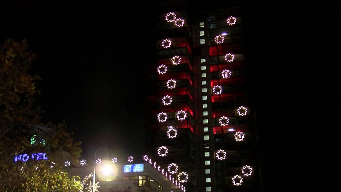World's largest advent calendar dazzles in Berlin