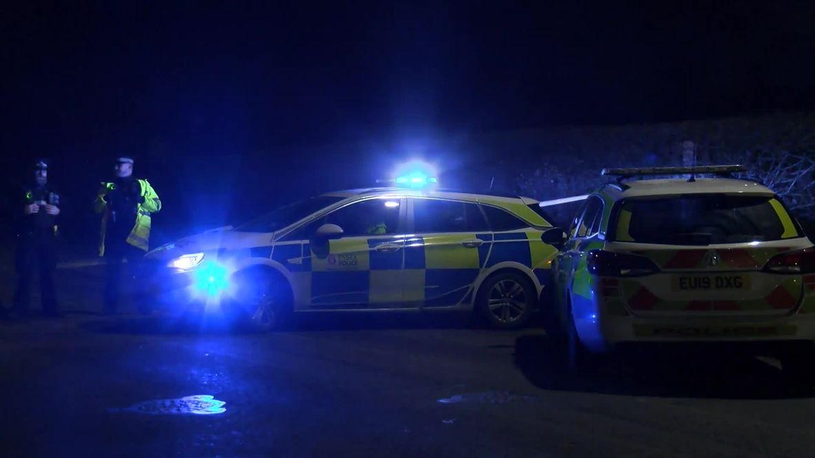 UK: Police work at deadly hit-and-run scene near Loughton school