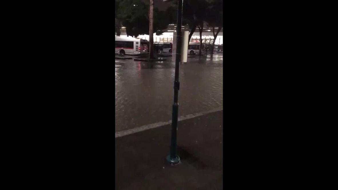 Italia: Las lluvias torrenciales provocan fuertes inundaciones en Roma