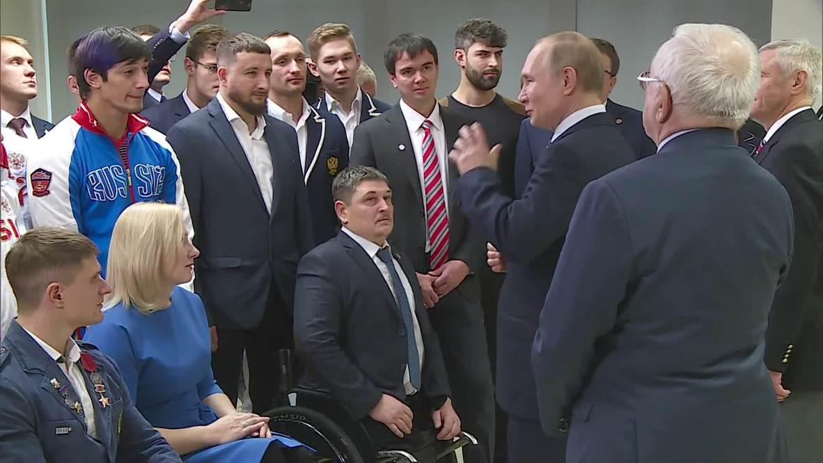 Россия: Путин отметил важность развития массового спорта в РФ