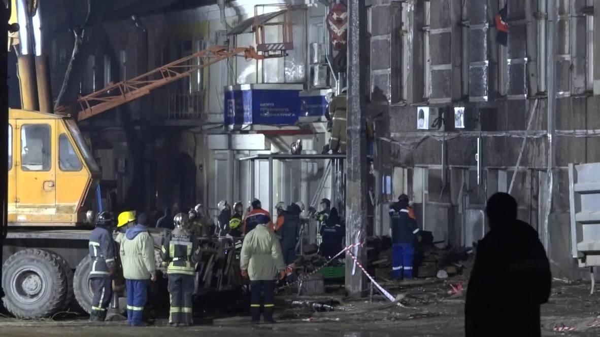 Украина: Продолжаются поиски 13 пропавших при пожаре в Одесском колледже