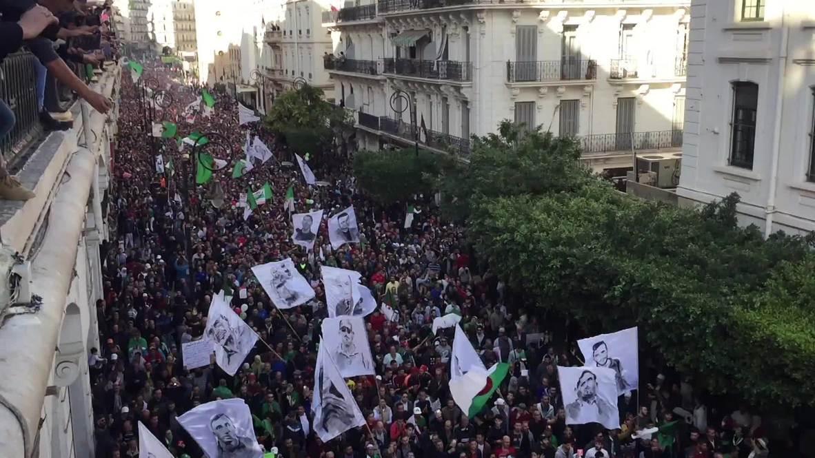 الجزائر: مظاهرات حاشدة في الجمعة الأخيرة قبل استحقاق الانتخابات الرئاسية