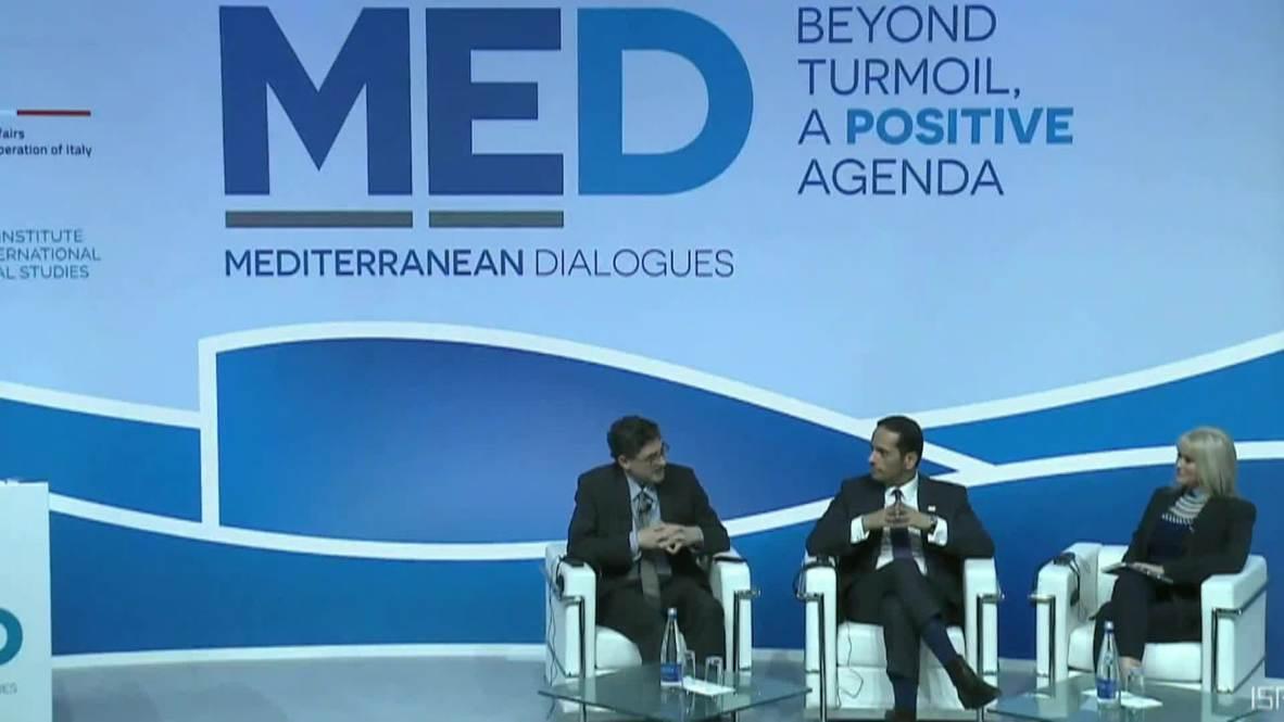 Italy: Qatar foreign minister confirms Saudi talks