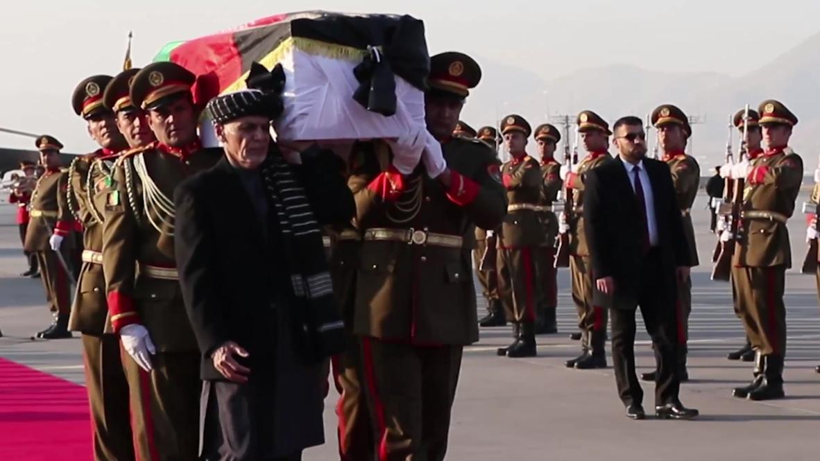 أفغانستان: الرئيس الأفغاني يلقي تحية الوداع على الطبيب الياباني المقتول