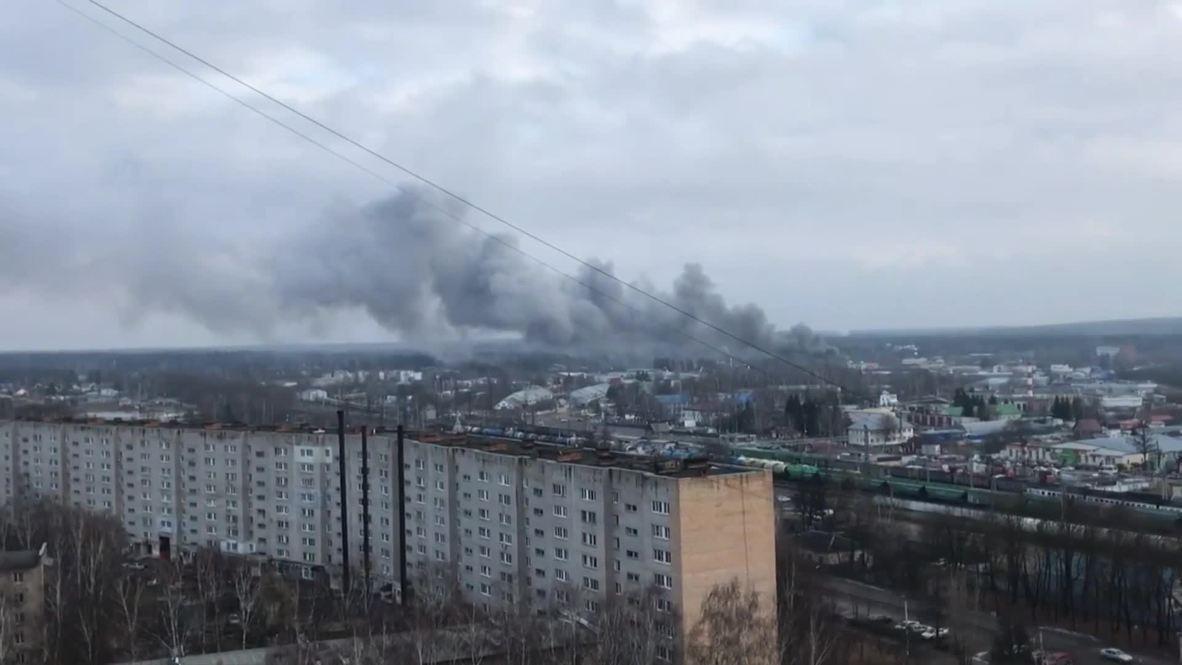 Россия: Крупный пожар в здании автомойки и кафе локализовали в Наро-Фоминске