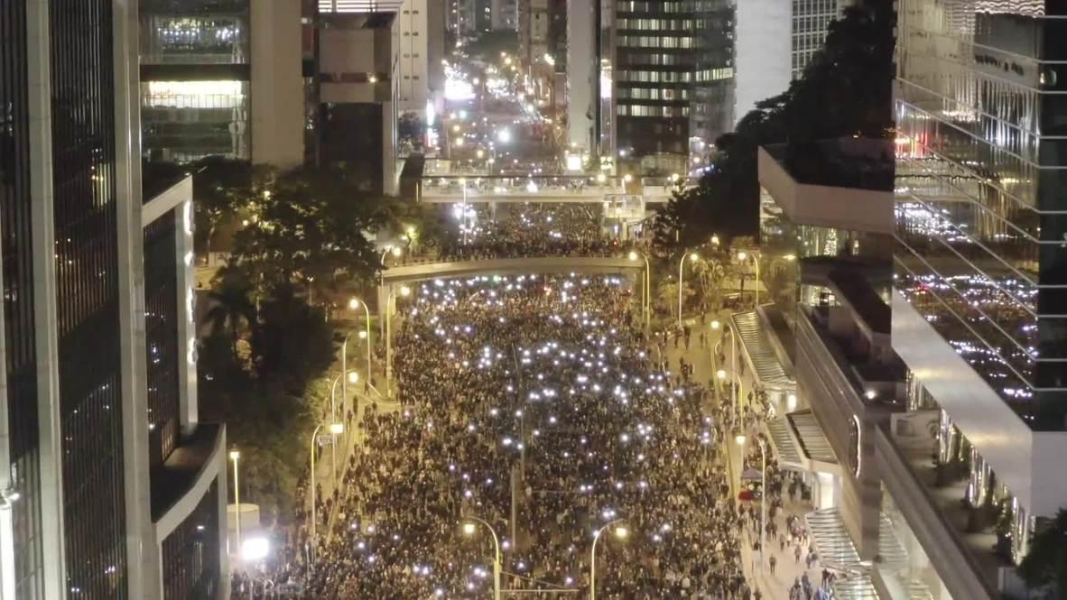 Hong Kong:  Protesta masiva contra el Gobierno inunda las calles de la ciudad