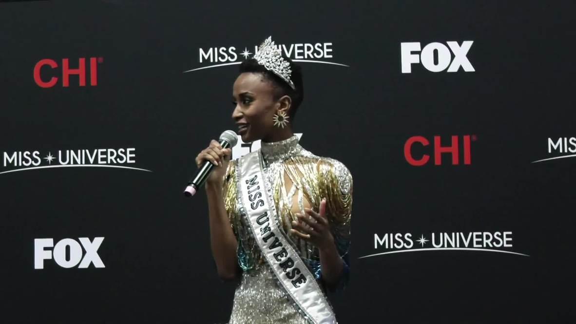 USA: South Africa's Zozibini Tunzi wins Miss Universe 2019
