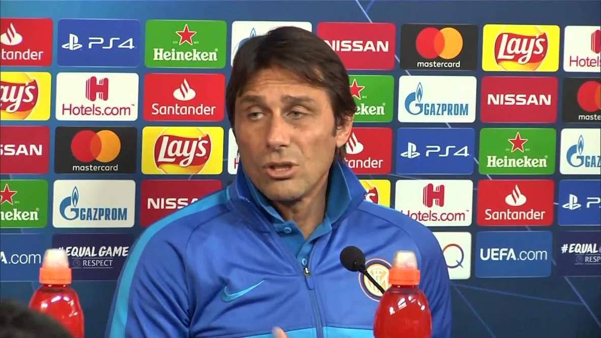 Italia: Inter se prepara para el partido contra Barcelona por la Liga de Campeones