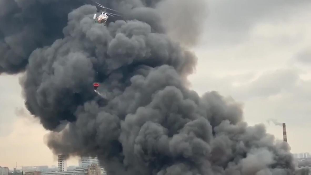 Россия: Пожар на площади 7 тысяч кв. м. локализован на складе в Москве – МЧС