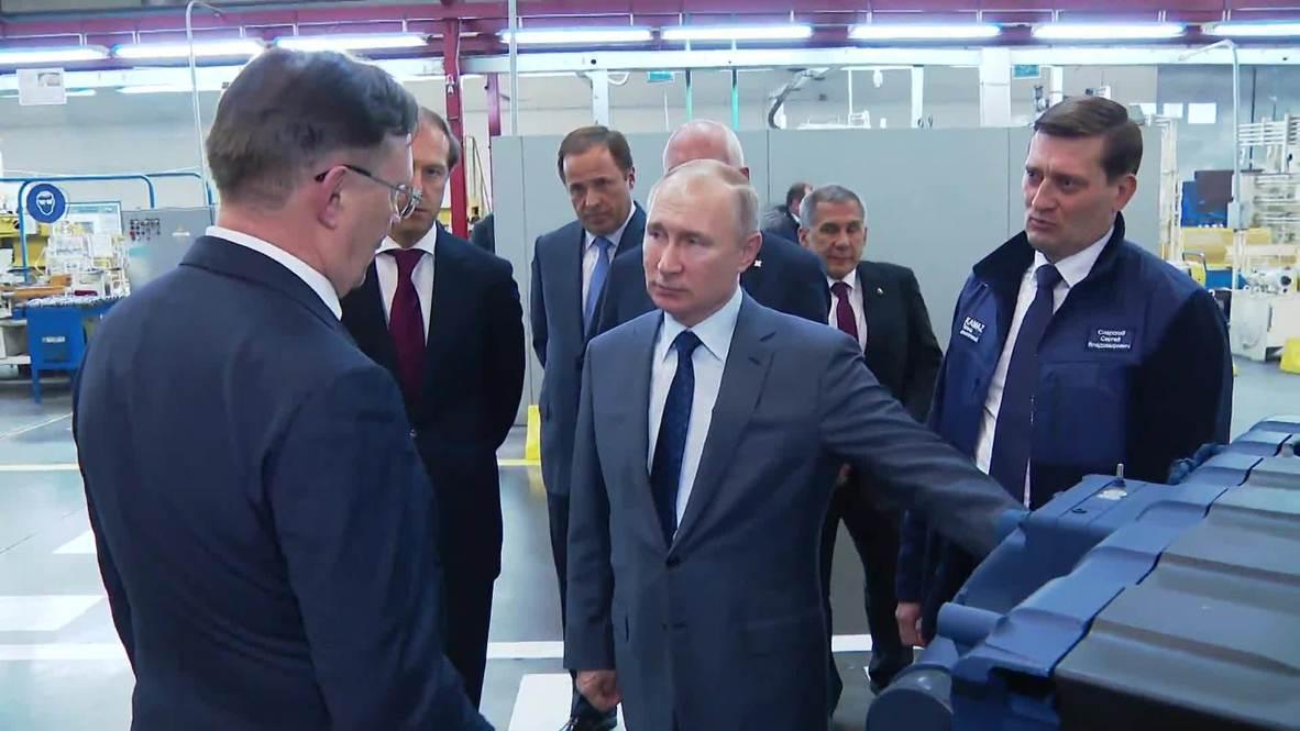 """Россия: """"С юбилеем!"""" - Путин поздравил автомобильный завод """"КамАЗ"""" с 50-летием"""