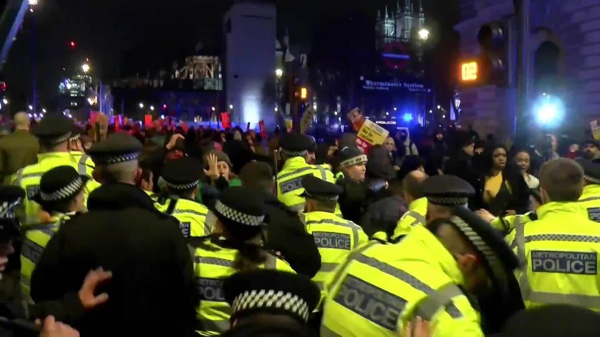 Reino Unido: Incidentes en protesta contra Boris Johnson en Londres luego de su triunfo electoral
