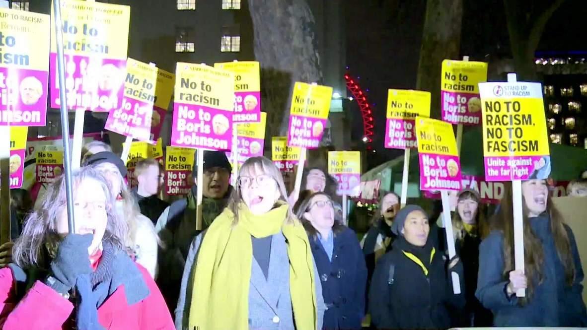 Reino Unido: Cientos de personas protestan contra Boris Johnson en Londres