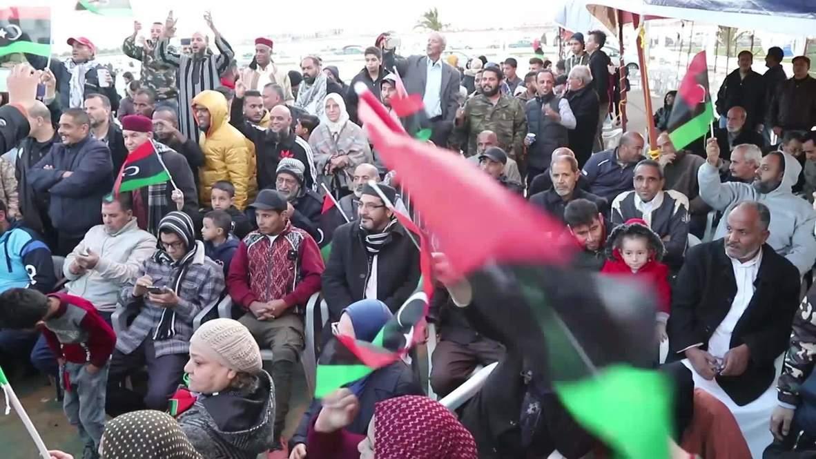 Libia: Decenas de personas protestan contra el acuerdo marítimo entre Turquía y Libia en Bengasi