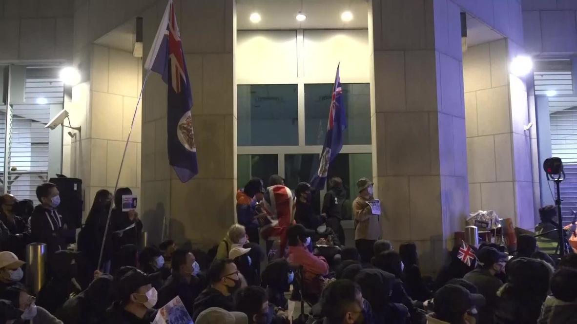 Hong Kong: Manifestantes exigen al Reino Unido apoyar la independencia del territorio